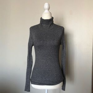 Express grey long sleeve turtleneck size small